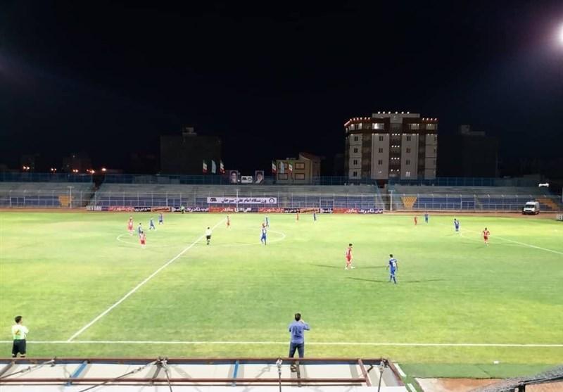لیگ برتر فوتبال، تساوی گل گهر و ماشین سازی در نیمه اول