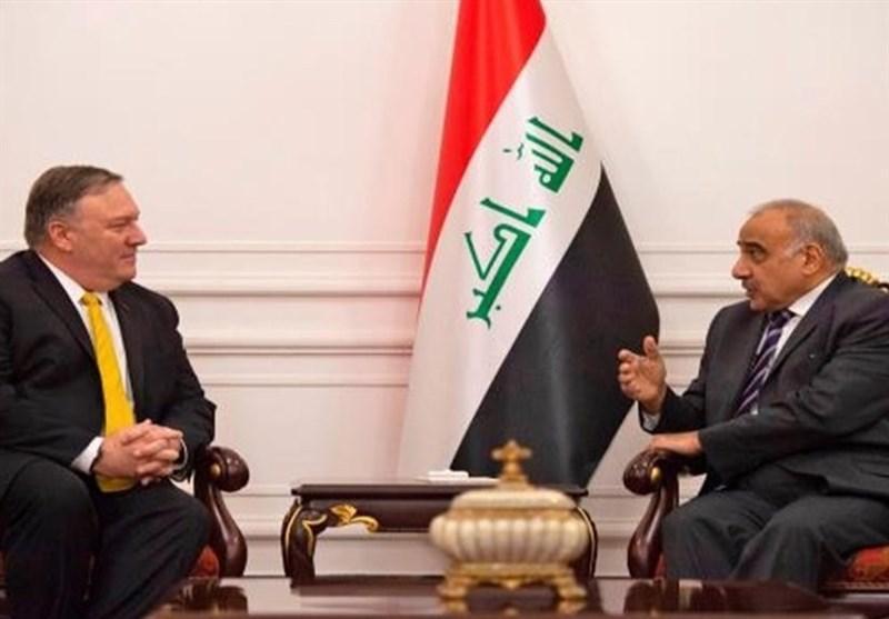 جزئیات تماس تلفنی پامپئو و عبدالمهدی، درخواست بغداد درباره خروج نظامیان آمریکایی