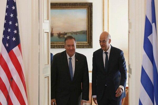تنش در مدیترانه شرقی؛ محور ملاقات آدینه وزیر خارجه یونان با پمپئو