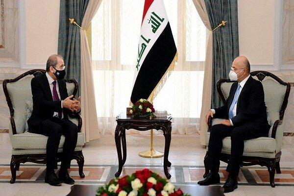 رئیس جمهور عراق با وزیر خارجه اردن ملاقات کرد