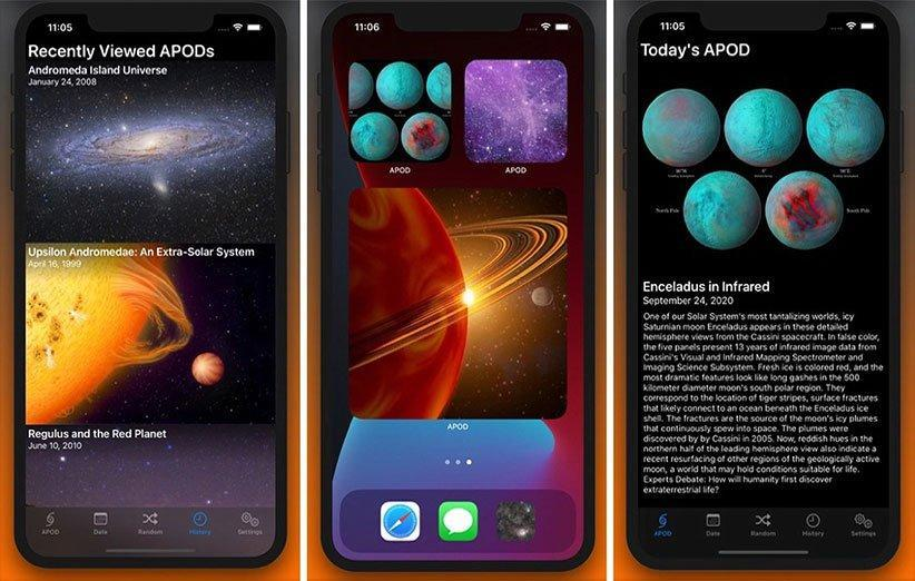 با این اپلیکیشن عکس نجومی روز ناسا را در صفحه هوم آیفون ببینید