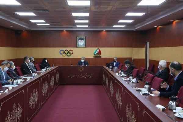 برگزاری جلسه هیات اجرایی کمیته ملی الپیک با حضور صالحی امیری