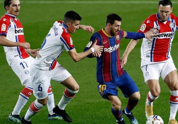 لالیگا، بارسلونا با دبل مسی جای رئال مادرید را گرفت