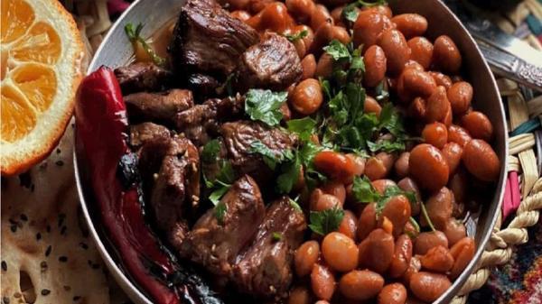 طرز تهیه خوراک لوبیا کباب رشتی؛ صبحانه خوشمزه گیلانی