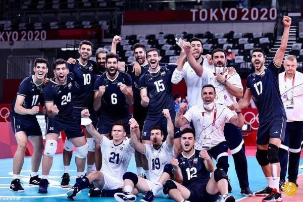 برد شیرین والیبال ایران در اولین بازی المپیک